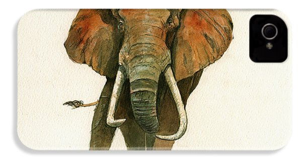 Elephant Painting           IPhone 4 / 4s Case by Juan  Bosco