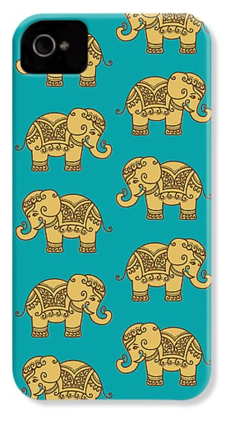 Elephant Pattern IPhone 4 / 4s Case by Krishna Kharidehal