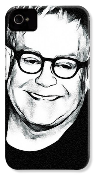 Elton John Black And White IPhone 4 / 4s Case by Yury Malkov
