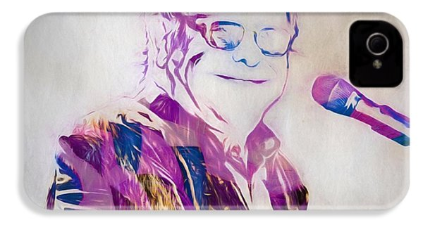 Elton John IPhone 4 / 4s Case by Dan Sproul