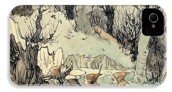 Elves In A Wood IPhone 4 / 4s Case by Arthur Rackham