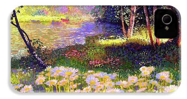 Enchanted By Daisies, Modern Impressionism, Wildflowers, Silver Birch, Aspen IPhone 4 / 4s Case by Jane Small