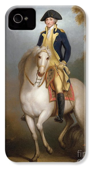 Equestrian Portrait Of George Washington IPhone 4 / 4s Case by Rembrandt Peale