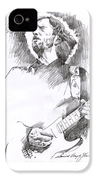 Eric Clapton Sustains IPhone 4 / 4s Case by David Lloyd Glover