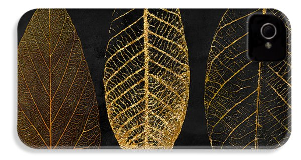 Fallen Gold II Autumn Leaves IPhone 4 / 4s Case by Mindy Sommers