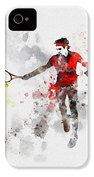 Federer IPhone 4 / 4s Case by Rebecca Jenkins