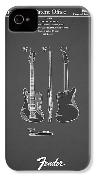 Fender Electric Guitar 1959 IPhone 4 / 4s Case by Mark Rogan