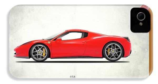 Ferrari 458 Italia IPhone 4 / 4s Case by Mark Rogan