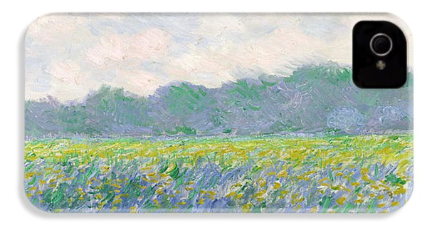 Field Of Yellow Irises At Giverny IPhone 4 / 4s Case by Claude Monet
