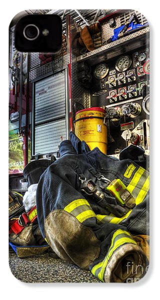 Fireman - Always Ready For Duty IPhone 4 / 4s Case by Lee Dos Santos