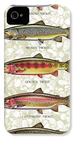 Five Trout Panel IPhone 4 / 4s Case by JQ Licensing