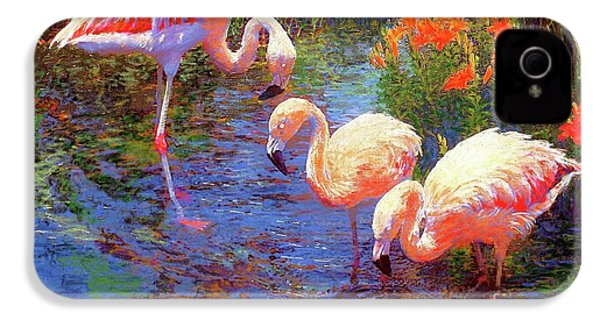Flamingos, Tangerine Dream IPhone 4 / 4s Case by Jane Small