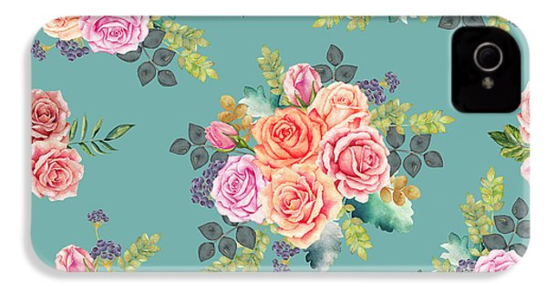 Floral Pattern 2 IPhone 4 / 4s Case by Stanley Wong