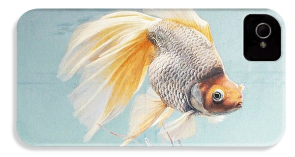 Flying In The Clouds Of Goldfish IPhone 4 / 4s Case by Chen Baoyi