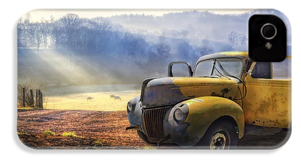 Ford In The Fog IPhone 4 / 4s Case by Debra and Dave Vanderlaan