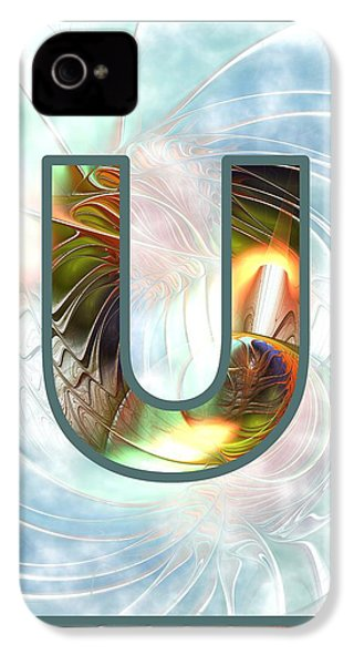 Fractal - Alphabet - U Is For Unity IPhone 4 / 4s Case by Anastasiya Malakhova