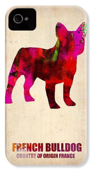 French Bulldog Poster IPhone 4 / 4s Case by Naxart Studio