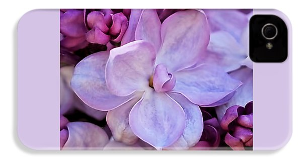 French Lilac Flower IPhone 4 / 4s Case by Rona Black