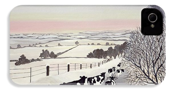 Friesians In Winter IPhone 4 / 4s Case by Maggie Rowe