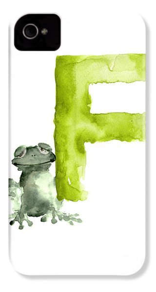 Frog Watercolor Alphabet Painting IPhone 4 / 4s Case by Joanna Szmerdt