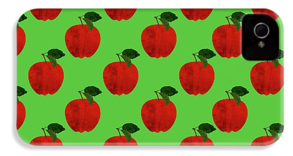 Fruit 02_apple_pattern IPhone 4 / 4s Case by Bobbi Freelance