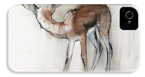 Gazelle Fawn  Arabian Gazelle IPhone 4 / 4s Case by Mark Adlington