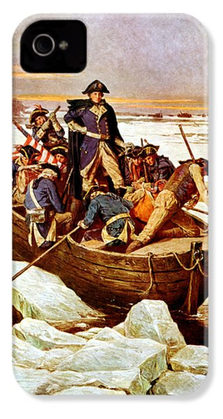General Washington Crossing The Delaware River IPhone 4 / 4s Case by War Is Hell Store