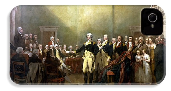 General Washington Resigning His Commission IPhone 4 / 4s Case by War Is Hell Store