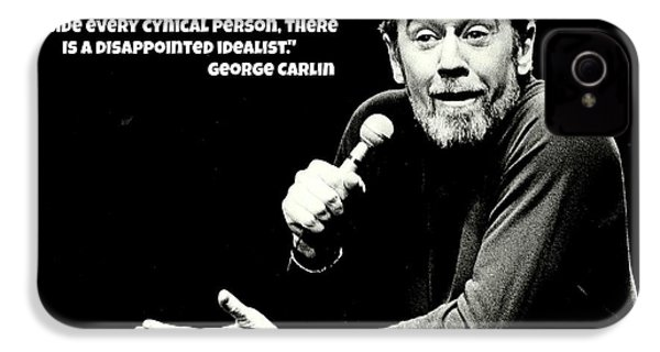 George Carlin Art  IPhone 4 / 4s Case by Pd