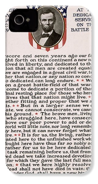 Gettysburg Address IPhone 4 / 4s Case by International  Images