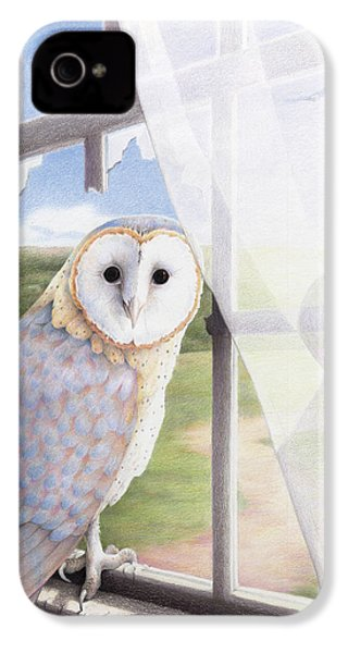 Ghost In The Attic IPhone 4 / 4s Case by Amy S Turner