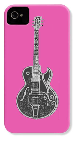 Gibson Es-175 Electric Guitar Tee IPhone 4 / 4s Case by Edward Fielding