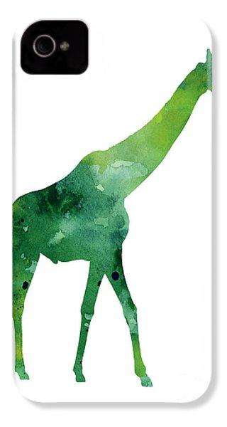 Giraffe African Animals Gift Idea IPhone 4 / 4s Case by Joanna Szmerdt