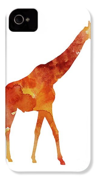 Giraffe Minimalist Painting For Sale IPhone 4 / 4s Case by Joanna Szmerdt
