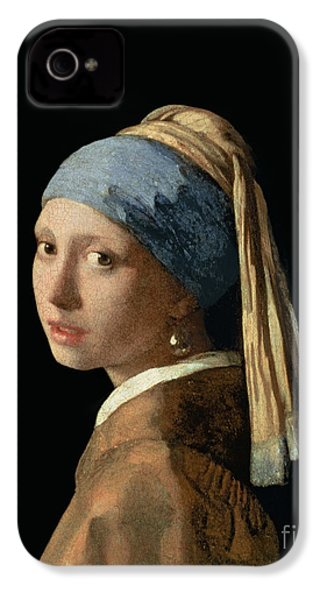 Girl With A Pearl Earring IPhone 4 / 4s Case by Jan Vermeer