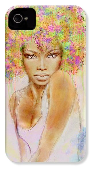 Girl With New Hair Style IPhone 4 / 4s Case by Lilia D