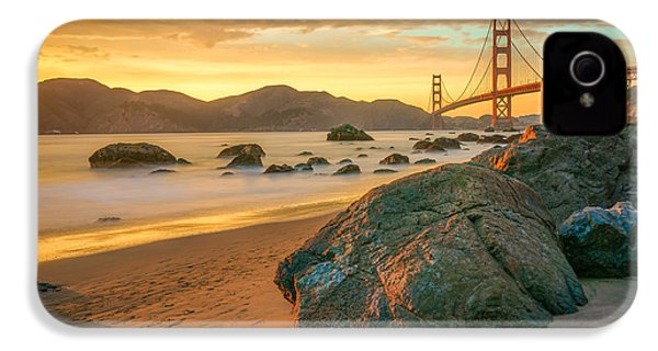 Golden Gate Sunset IPhone 4 / 4s Case by James Udall