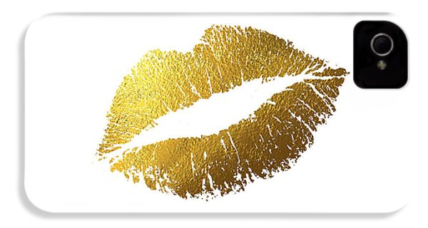 Gold Lips IPhone 4 / 4s Case by Bekare Creative