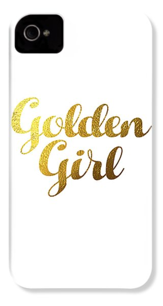 Golden Girl Typography IPhone 4 / 4s Case by Bekare Creative