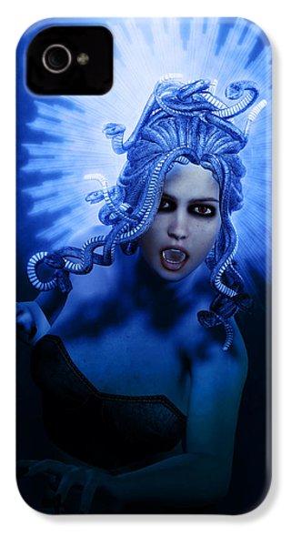 Gorgon Blue IPhone 4 / 4s Case by Joaquin Abella