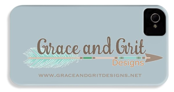 Grace And Grit Logo IPhone 4 / 4s Case by Elizabeth Taylor