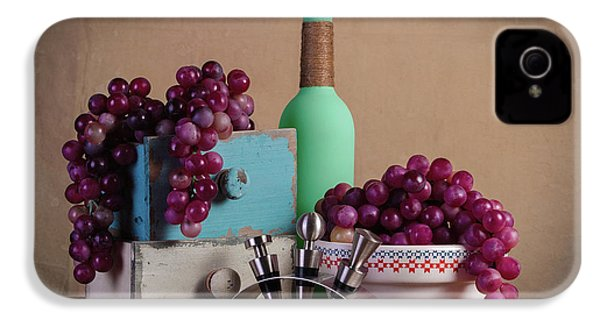 Grapes With Wine Stoppers IPhone 4 / 4s Case by Tom Mc Nemar