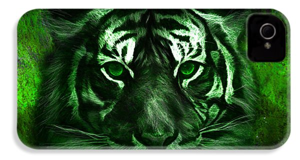 Green Tiger IPhone 4 / 4s Case by Michael Cleere