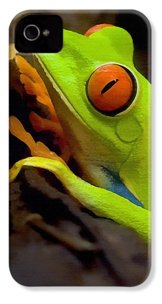 Green Tree Frog IPhone 4 / 4s Case by Sharon Foster