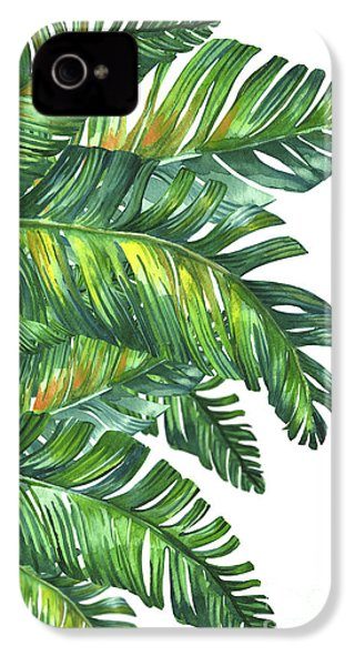 Green Tropic  IPhone 4 / 4s Case by Mark Ashkenazi