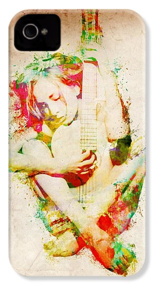 Guitar Lovers Embrace IPhone 4 / 4s Case by Nikki Smith