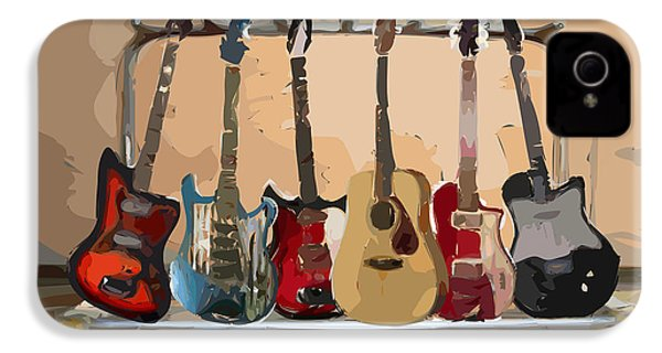 Guitars On A Rack IPhone 4 / 4s Case by Arline Wagner