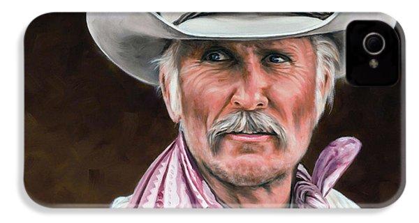 Gus Mccrae Texas Ranger IPhone 4 / 4s Case by Rick McKinney