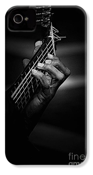 Hand Of A Guitarist In Monochrome IPhone 4 / 4s Case by Avalon Fine Art Photography