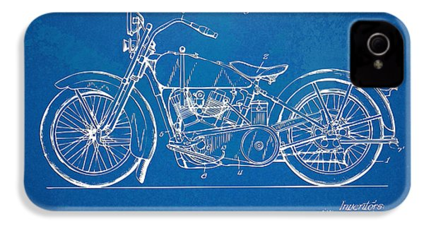 Harley-davidson Motorcycle 1928 Patent Artwork IPhone 4 / 4s Case by Nikki Marie Smith